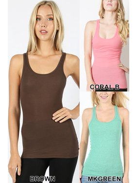 ee03b419d4e Product Image Women's Stretchy Ribbed Knit Racerback Tank-2