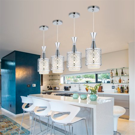 Modern Crystal Iron Ceiling Lights Chandelier Dining Room Pendant LED Lamp Decor ()