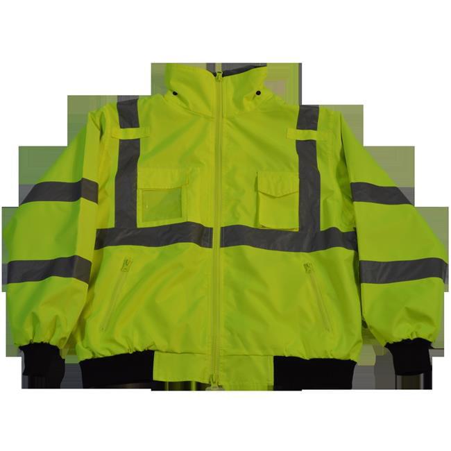Jacket Lime Bomber ANSI-ISEA & EN471 Class 3 Waterproof with Removable Fleece Liner, 2X - image 1 de 1