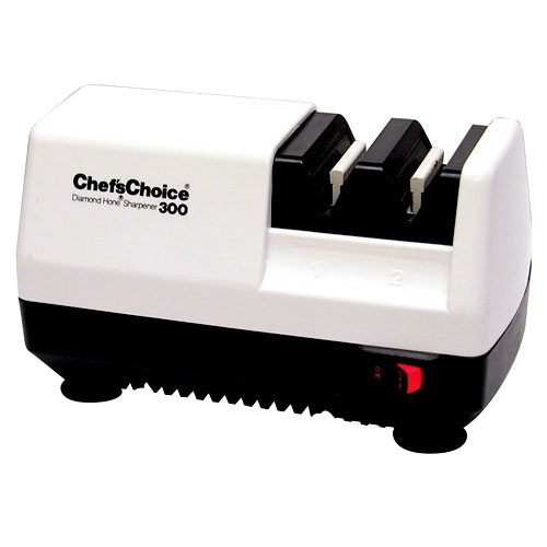Chef's Choice Diamond Hone Multistage Knife Sharpener #300, White by Edgecraft Corp