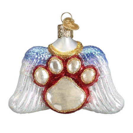 Beloved Pet Paw & Angel Wing Memorial Ornament, Old world style and design By Old World Christmas