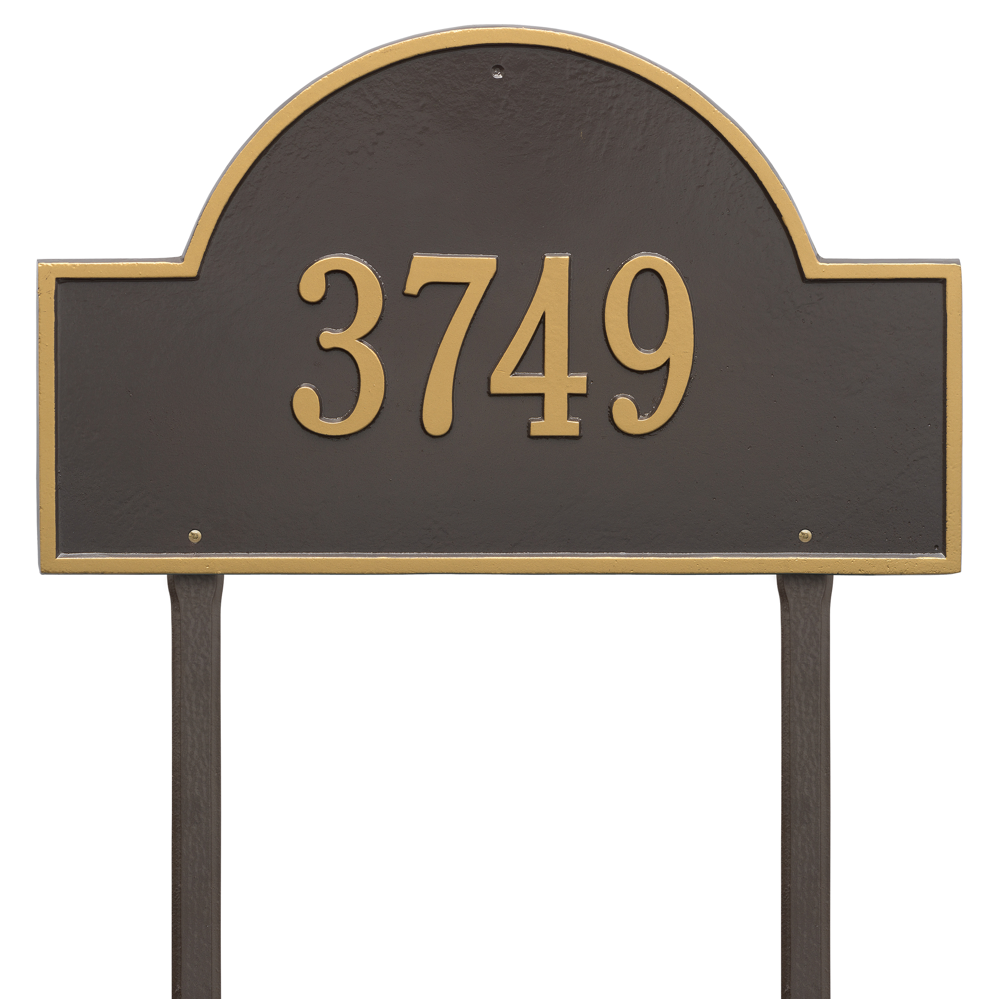Personalized Whitehall Products 23-Inch Arch Marker Address Plaque in Bronze Gold by Whitehall
