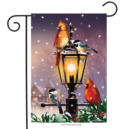 the gathering winter garden flag lamp post cardinals 12.5