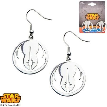 (Disney Stainless Steel Star Wars Jedi Order Dangle Hook Earrings)