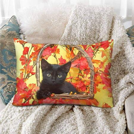 GCKG Black Cat Autumn Leave Pillow Cases Pillowcase 20x30 inches - image 3 of 4