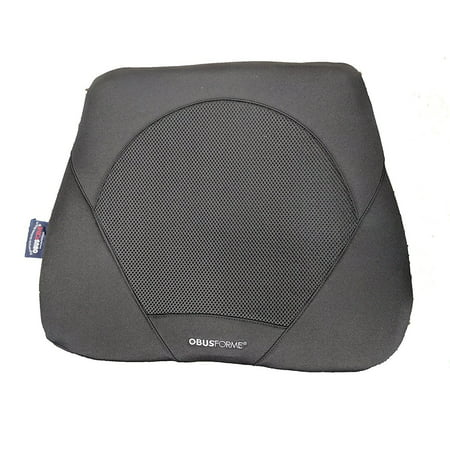 ObusForme Gel Seat Cushion, Contoured Memory Foam Base For Comfort and Support, Includes Soft Gel Insert To Cushion Sitting Bones, Hybrid Gel/Memory Foam Designed For A Luxurious Sitting Experience ()