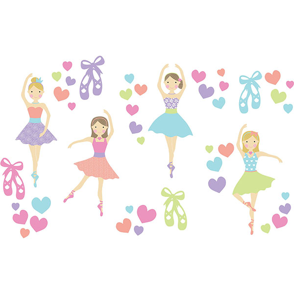 WallPops Prima Ballerina Wall Art Kit