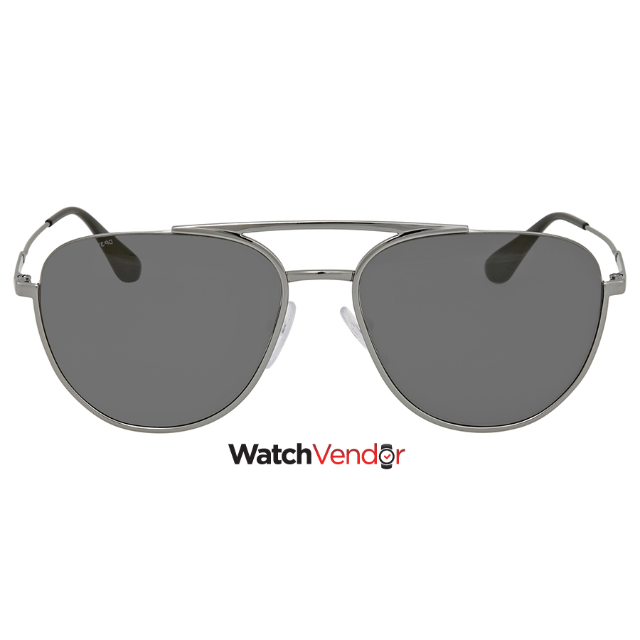fbb779197ecc Prada Grey Aviator Sunglasses PR 50US 5AV5S0 56