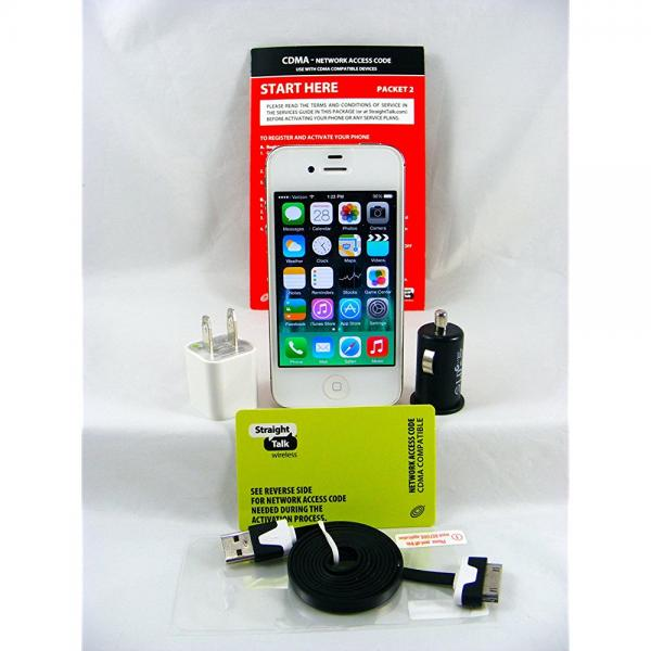 Newest Apple iPhone 4 MD200LL/A 8GB White For Verizon (No...