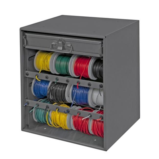 16.44 x 15.19 x 11.88 in. Prime Cold Rolled Steel Wire & Terminal Storage Cabinet, Gray