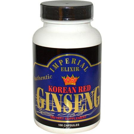 Imperial Elixir Ginseng Korean Red Ginseng 100 Capsule, Pack of 2 Imperial Elixir Ginseng