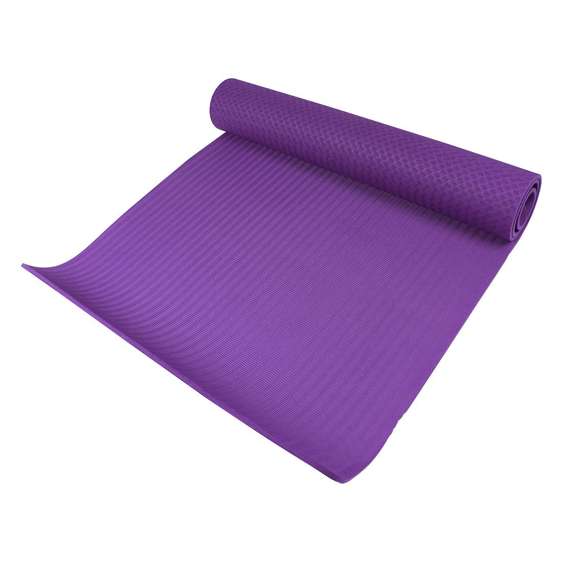 Indoor Exercise Folding Anti Slip Yoga Pilates Practice Mat Cushion Dark Purple - image 5 de 5