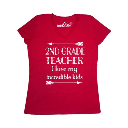 79aa9d6c Inktastic - 2nd Grade Teacher Appreciation Gift Women's V-Neck T-Shirt -  Walmart.com