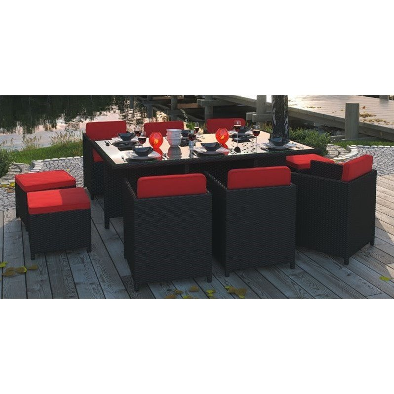 Reversal All-Weather Wicker Patio Dining Set