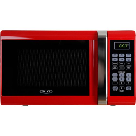 Bella Bmo09aptrda 0 9 Cubic Foot 900 Watt Microwave Oven Red With Chrome