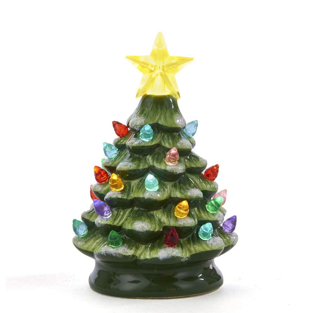Kurt Adler Battery-Operated LED Ceramic Green Christmas ...