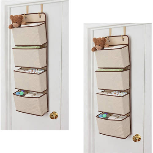 Delta Children 4-Pocket Hanging Wall Organizer, 2-Pack Value Bundle