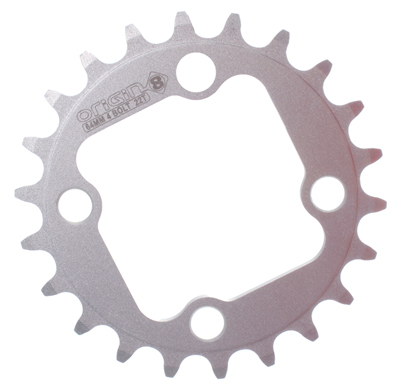 Origin8 Alloy Blade Chainring, 64mm 22T, Silver