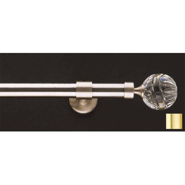 WinarT USA 8. 1119. 20. 03. 240 Carla 1119 Curtain Rod Set -. 75 inch - Matte Brass - 94 inch