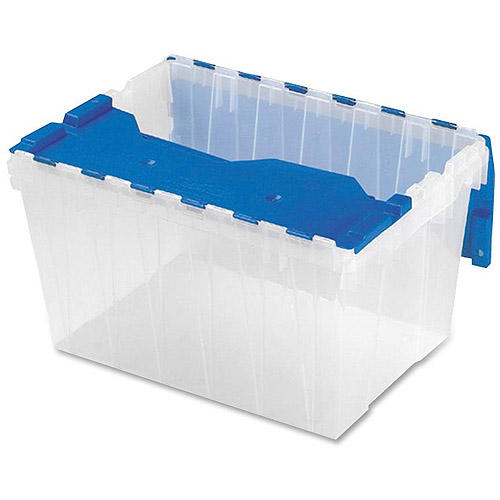 Akro-Mils KeepBox Plastic Storage Container w/ Attached Lid, 12 Gallon