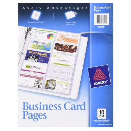 Avery business card pages sheet protectors pack of 10 walmart avery business card pages sheet protectors pack of 10 colourmoves