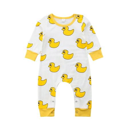 Organic Cotton Jumpsuit (Organic Cotton Newborn Baby Boy Girl Cartoon Romper Bodysuit Jumpsuit Outfits Clothes)