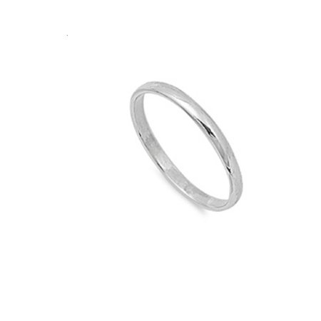 925 Sterling Silver Plain Wedding Band Ring Size -