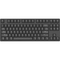 iKBC W200 Wireless Mechanical Keyboard with Cherry MX Silent Red Switch for Windows and Mac OS, Enables Media Key and LED Indicator (2.4G Dongle, USB 2.0, PBT Double Shot 87 Keycaps, Black, ANSI/US)