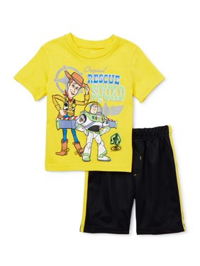 Toy Story Toddler Boy T-shirt & Mesh Athletic Shorts, 2pc Outfit Set