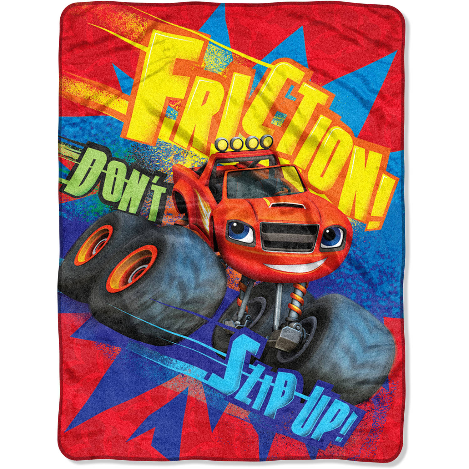 "Nickelodeon's Blaze Fast Furious 46"" x 60"" Micro Raschel Throw"