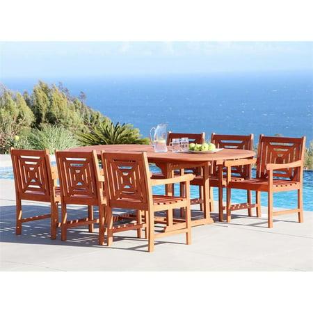 Vifah Malibu 7 Piece Extendable Oval Hardwood Patio Dining (Vifah Single)