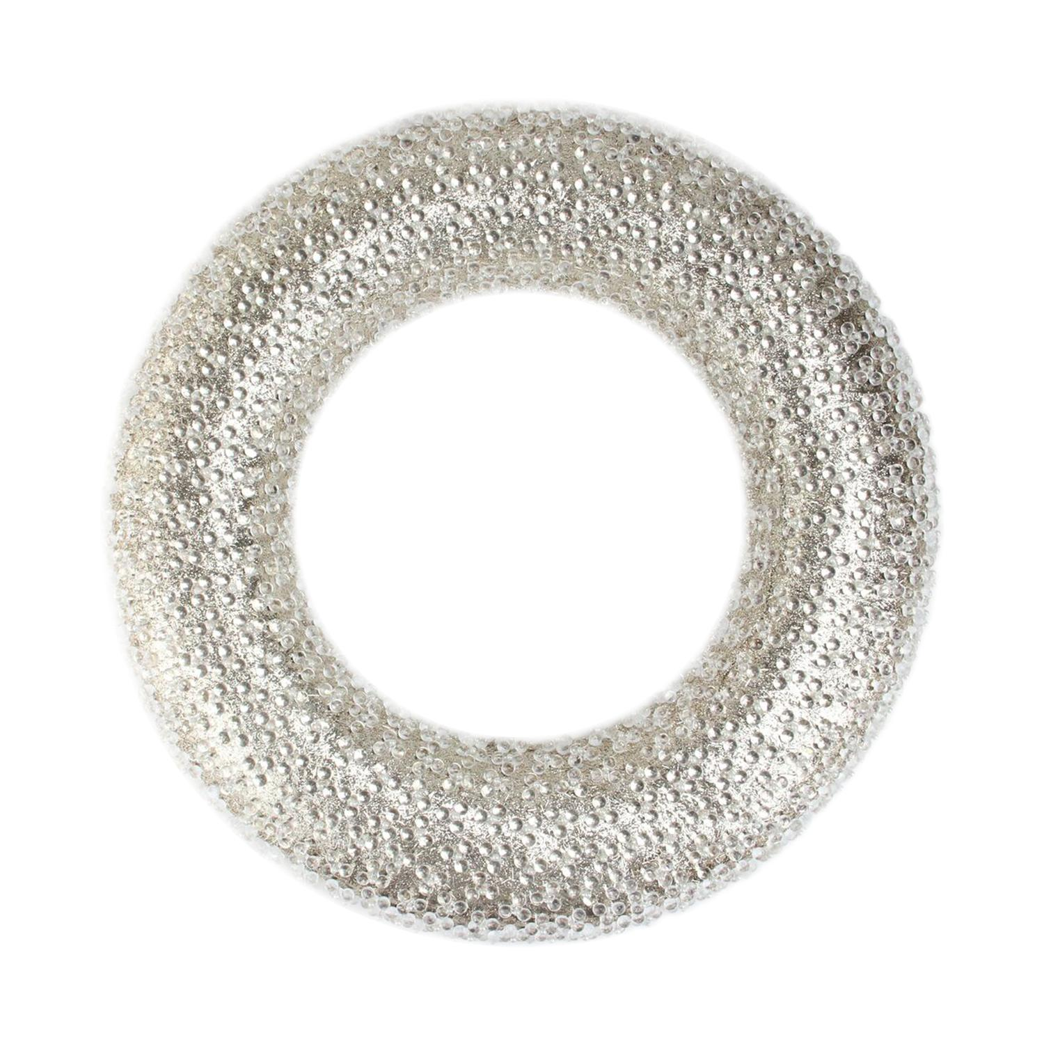 Northlight 20 in. All That Glitters Bead and Gold Glitter Christmas Wreath