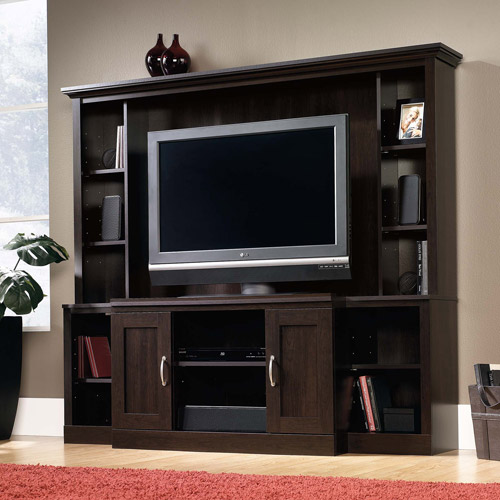 tv stand walmart. sauder cinnamon cherry entertainment center for tvs up to 47\ tv stand walmart d