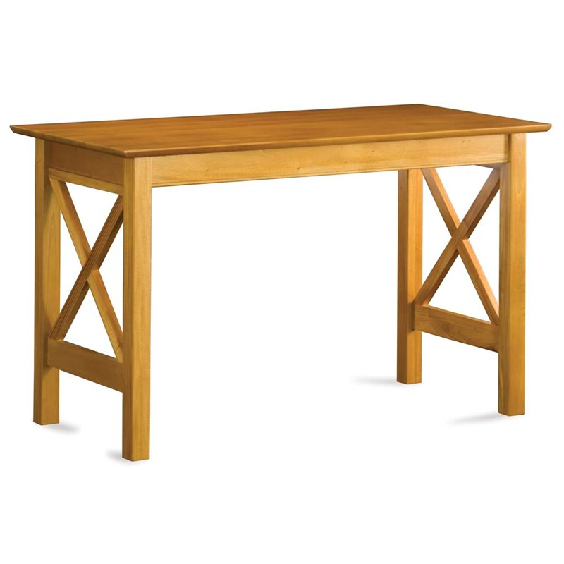 Atlantic Furniture Lexi Writing Desk in Caramel Latte