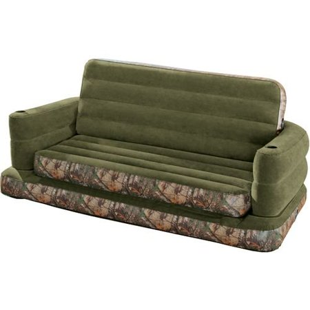 Intex Realtree Queen Size Pull Out Inflatable Sofa 68566ay