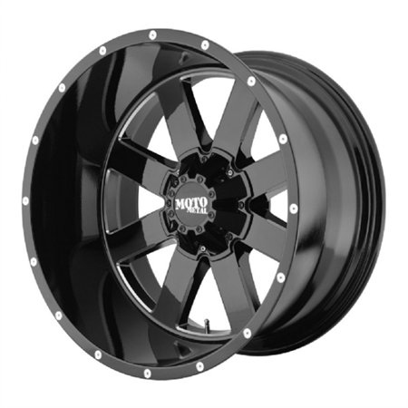Wheel Pros MO962, 20x12 with 6 on 5.5 Bolt Pattern - Black MO96221268344N