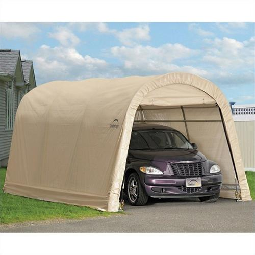 ShelterLogic Autoshelter 10'x15'x8' Round top Garage in Sandstone