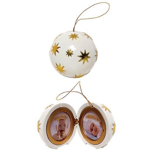 Crosley BK336 Musical Photo Frame Ornament-Ivory