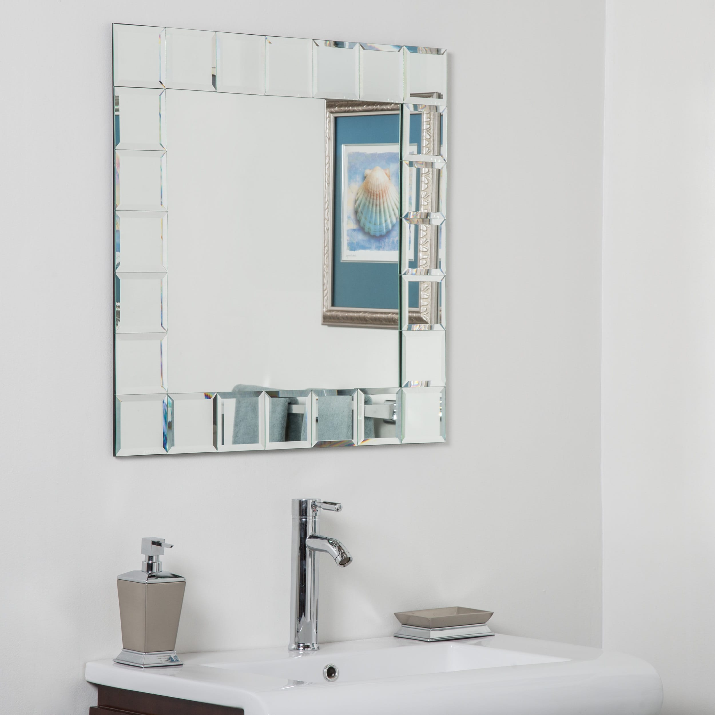 Decor Wonderland Montreal Square Bathroom Mirror by Overstock