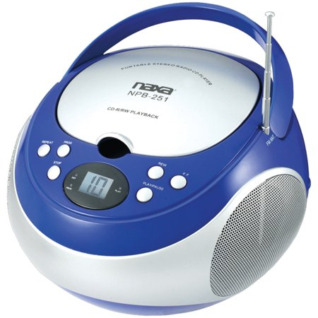 Naxa NPB251 Portable Cd Player With Am/fm Radio - Blue (Cd Players For Children Spiderman)