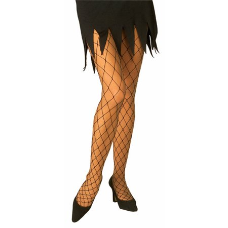 Black Diamond Net Tights Rubies 6069, One Size - Vixen Pirate Halloween Costume