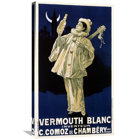 Blanc Vermouth (Global Gallery 'Vermouth Blanc / C. Comoz de Chambery' Vintage Advertisement on Wrapped)