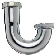 PLUMB PAK CORPORATION 1-1/4 x 1-1/4-Inch Chrome-Plated Sink Trap J Bend 10487K