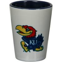 Kansas Jayhawks 2oz. Inner Color Ceramic Cup - No Size