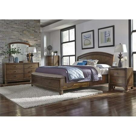 Avalon Set Bed (Liberty Furniture Avalon III 4 Piece Queen Panel Storage Bedroom Set)