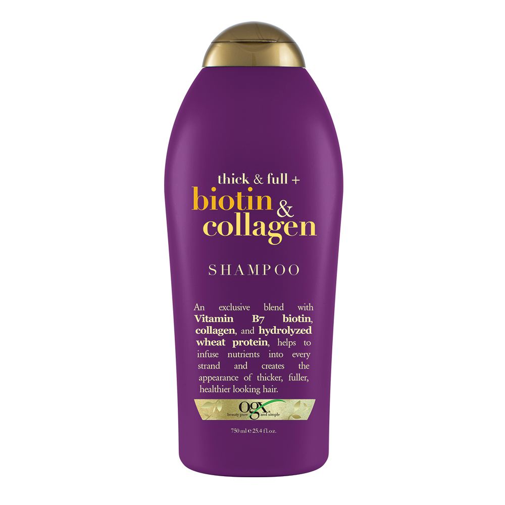 OGX Thick & Full + Biotin & Collagen Shampoo, 25.4 FL OZ