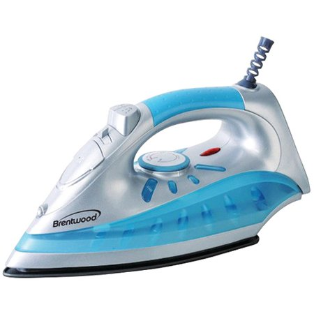 780 Burled Iron Finish - Brentwood Appliances MPI-60 Nonstick Steam/Dry, Spray Iron with Silver Finish
