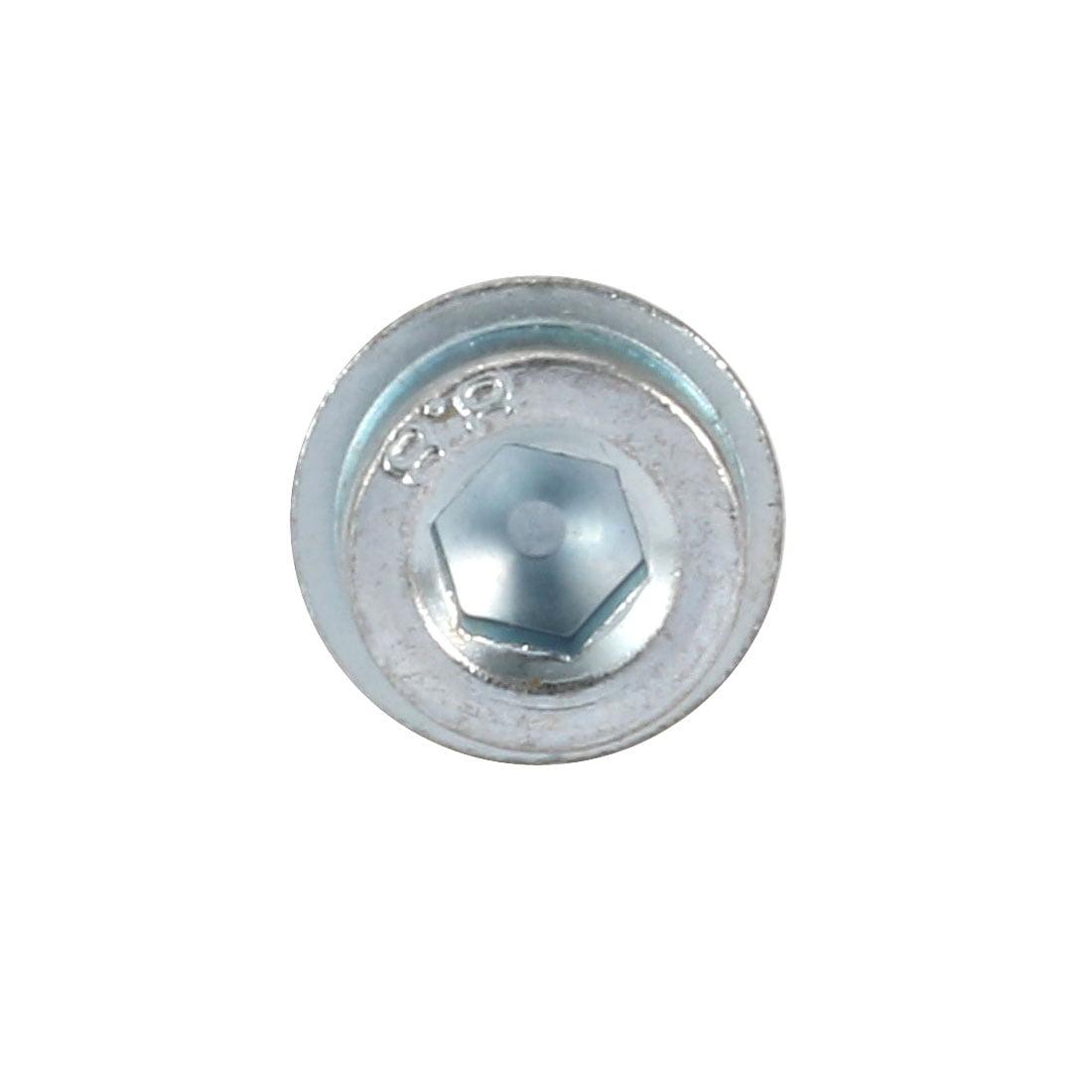 20Pcs M8x20mm 8.8 Grade Hex Socket Serrated Flange Socket Cap Head Bolt