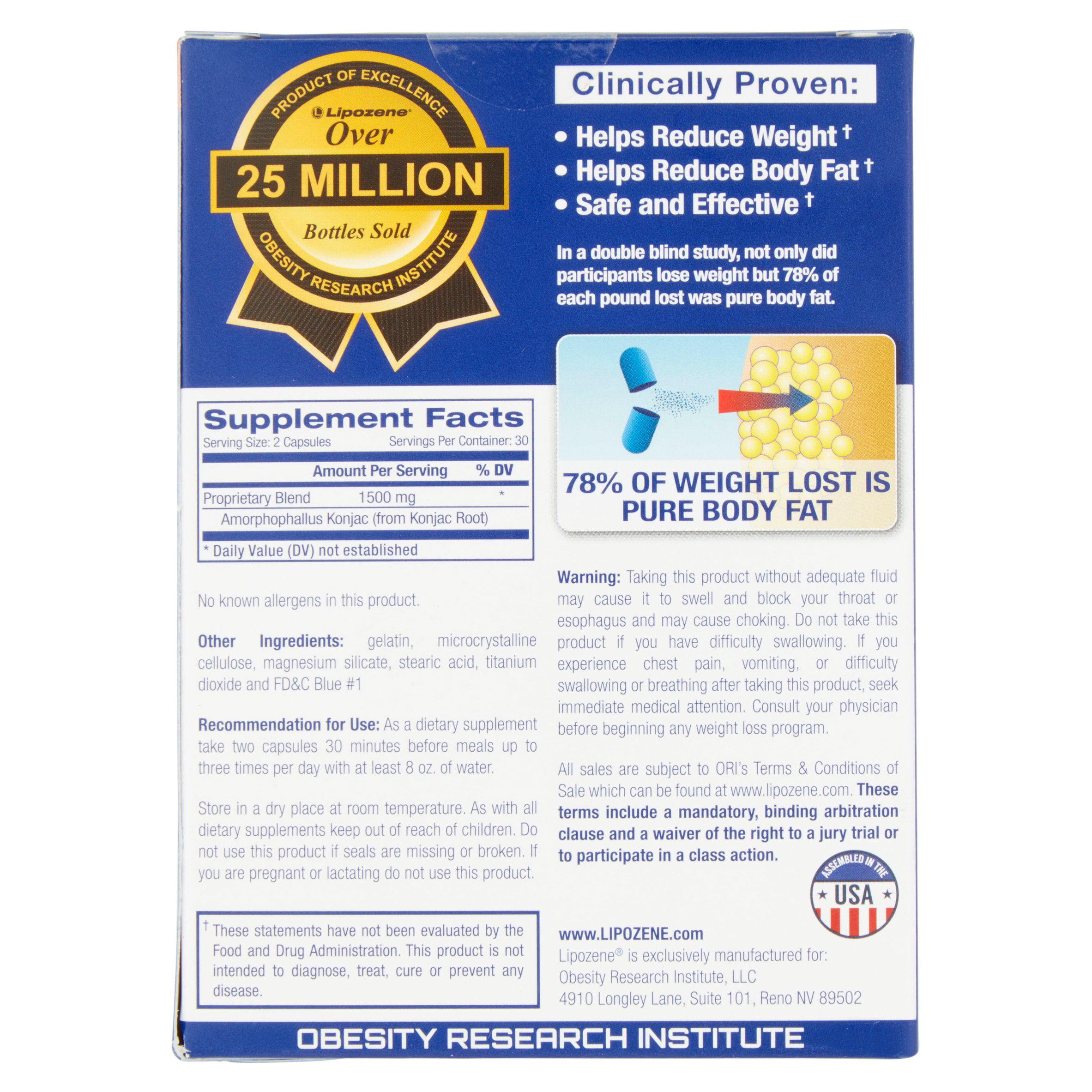 Ultimate fat loss nj cost per pound - Lipozene Amorphophallus Konjac Maximum Strength Capsules Bonus Pack 60 Count Walmart Com
