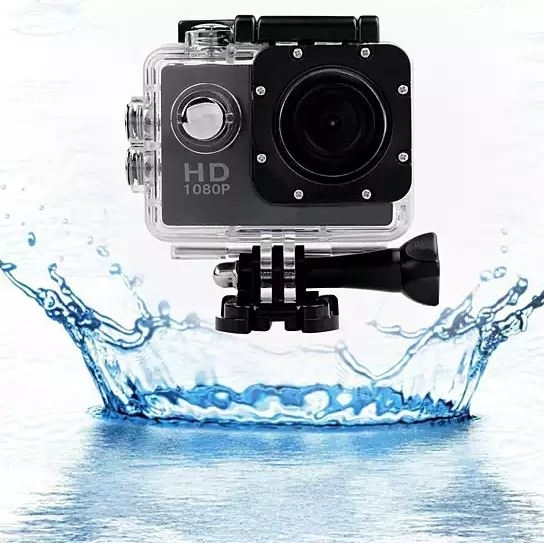 All Pro 1080p Action Sports Camera with Waterproof Accessory Case